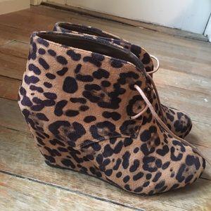 Leopard booties